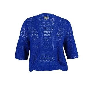 JM Collection Women's Open Front Crochet Cardigan Sweater - 2x