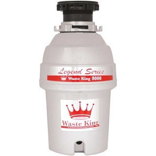 Waste King L-8000 EZ-Mount System, 1 HP 2800 RPM, Continuous Feed Garbage Disposal, Jam Free Swiveling Impeller System