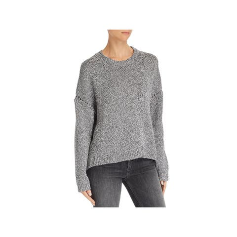 Rag & Bone Womens Rona Pullover Sweater Cotton Knit - Black