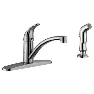 Design House 547281  Trenton 1.8 GPM Single Hole or Widespread Kitchen Faucet - Polished Chrome