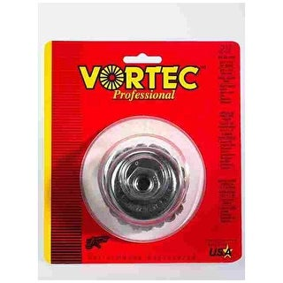 "Weiler 36041 Vortec-Pro Knot Wire Cup Brush, 3"""