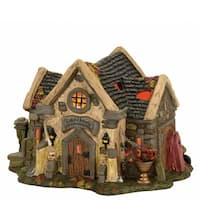 Department 56 Halvl the Haunted Cemetry Shed Lit-house