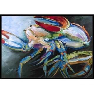 Carolines Treasures JMK1103MAT Blue Crab Indoor & Outdoor Mat 18 x 27 in.