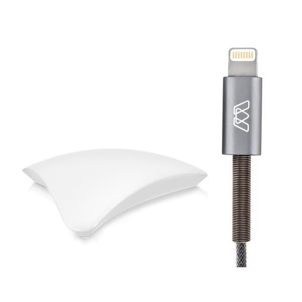 MOS 6 ft Spring Lightning Cable and MOS Original (White) Bundle