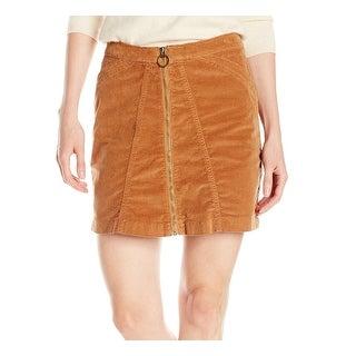 Buffalo David Bitton NEW Brown Women's Size 31 A-Line Zipped Skirt