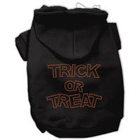 Trick or Treat Rhinestone Hoodies Black L (14)