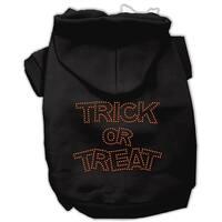Trick or Treat Rhinestone Hoodies Black M (12)