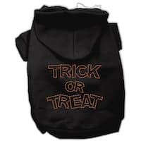 Trick or Treat Rhinestone Hoodies Black S (10)