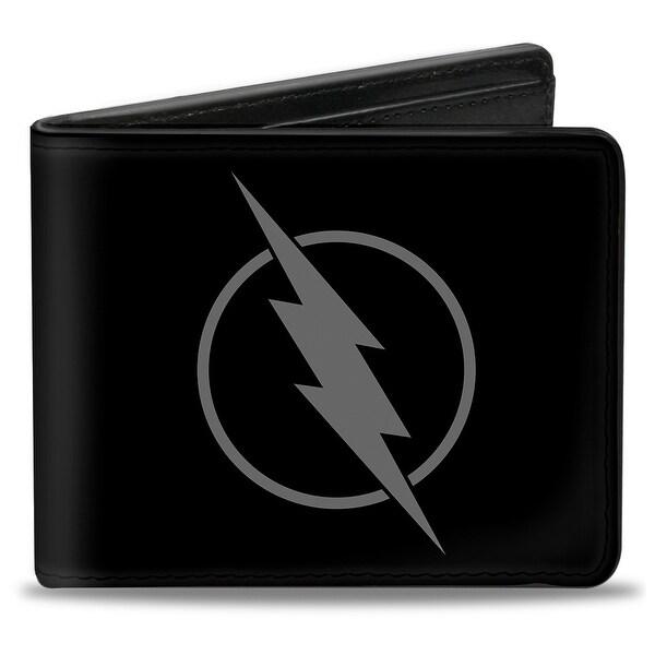 Reverse Flash Logo Black Gray Bi Fold Wallet - One Size Fits most