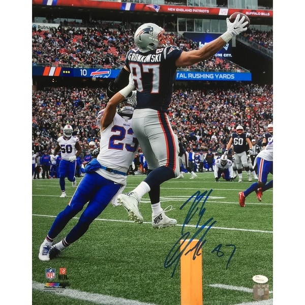 the latest f8822 ed07a Shop Rob Gronkowski Signed 16x20 New England Patriots Catch ...