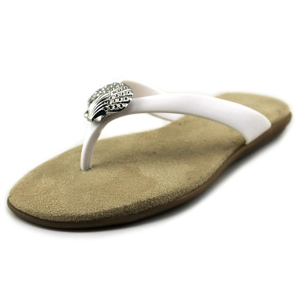 Aerosoles Chlarity Women Open Toe Synthetic White Thong Sandal