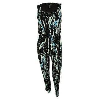 Style & Co. Women's Sleeveless Wide Leg Jumpsuit - fiesta feather - pxs