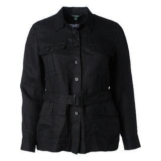 Lauren Ralph Lauren Womens Jacket Linen Button-Down (3 options available)