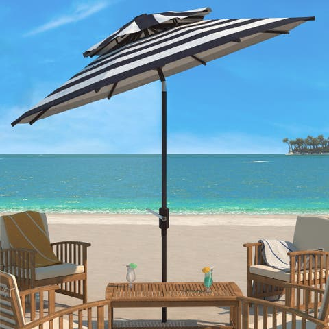 Safavieh Outdoor Living Iris Fashion Line 9Ft Double Top Umbrella
