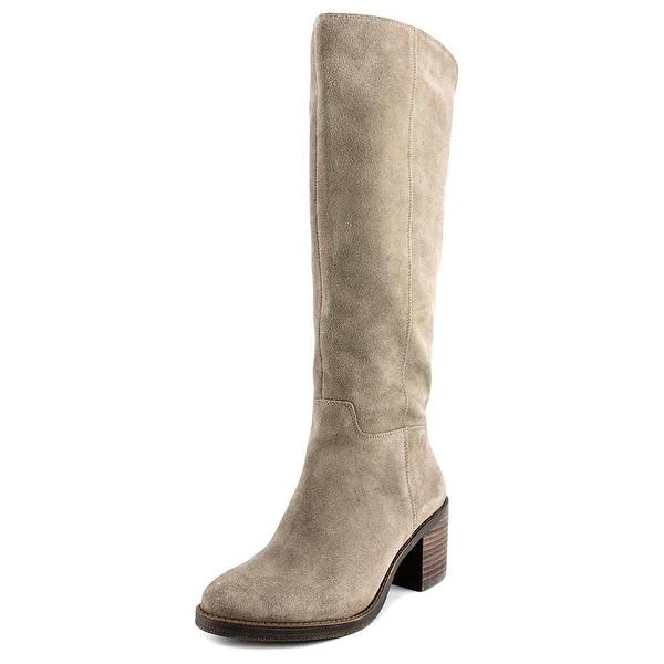 0a78488db94 Lucky Brand Ritten Wide Calf Women Round Toe Suede Brown Knee High Boot