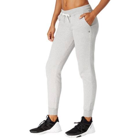 Reebok Women's Fleece Cuffed Pants, X-Large, Medium Grey Heather