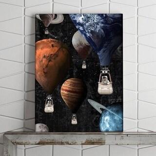 IKONICK Planet Balloons Canvas Art