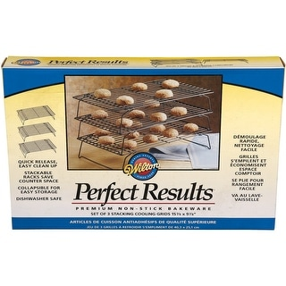 """Perfect Results Non-Stick 3-Tier Cooling Rack-15.875""""X9.875"""""""