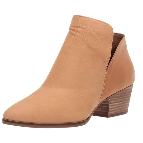 Lucky Brand Womens Iceress Leather Almond Toe Ankle Fashion Boots