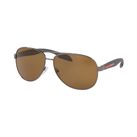 Prada Linea Rossa PS 53PS 5AV5Y1 62 Gunmetal Man Pilot Sunglasses