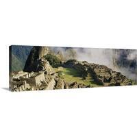 Premium Thick-Wrap Canvas entitled Machu Picchu Peru - Multi-color