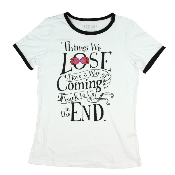 5e9cf06e6 Shop Harry Potter Shirt Things We Lose Ringer Womens Tee T-Shirt - On Sale  - Free Shipping On Orders Over $45 - Overstock - 25602850