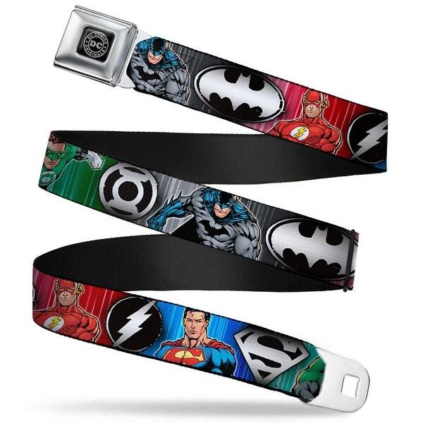 Dc Originals Black Silver Justice League Elite Forces Superheroes Pose Seatbelt Belt