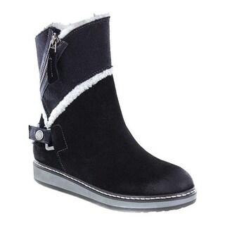White Mountain Women's Teague Winter Boot Black Suede