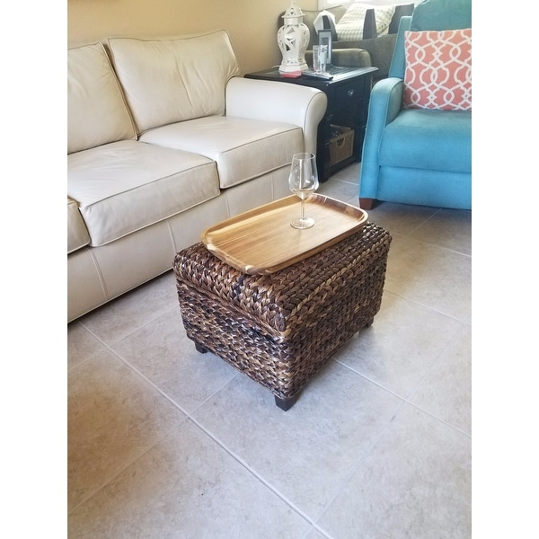Charmant Shop BirdRock Home Espresso/Honey Seagrass Rattan Woven Storage Ottoman    Free Shipping Today   Overstock.com   11991969