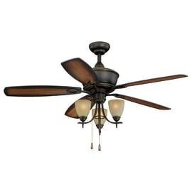 "Vaxcel Lighting FN52997 Sebring 52"" 5 Blade Indoor Ceiling Fan - Light Kit and Fan Blades Included"