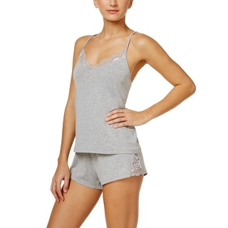 Link to Flora Womens Sleepwear Gray Size XL Lace Racerback Cami Pajama Sets Similar Items in Intimates