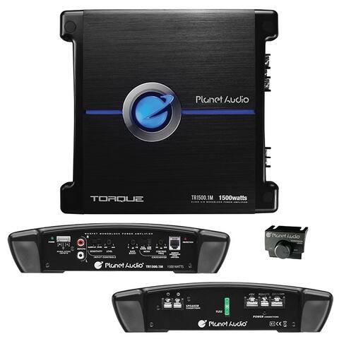 Planet audio tr1500.1m planet 1500 watts max power class a/b monoblock power amplifier 2-ohm stable
