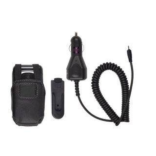 Bundle Leather Case & Car Charger for Nokia 6085 6086