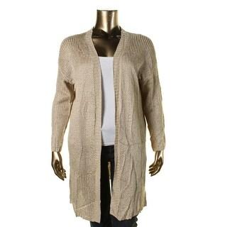 Lauren Ralph Lauren Womens Plus Open Front 3/4 Sleeve Cardigan Sweater - 1X