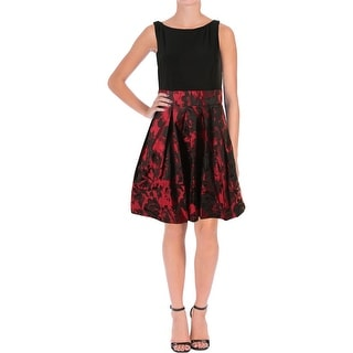 Lauren Ralph Lauren Womens Petites Jacquard Prom Cocktail Dress
