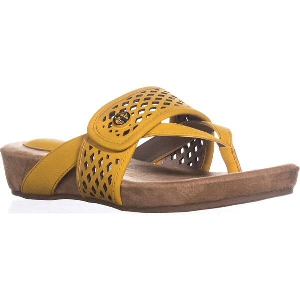 Giani Bernini GB35 Releigh Sandals - Sunshine, Sunshine, Size 7.5