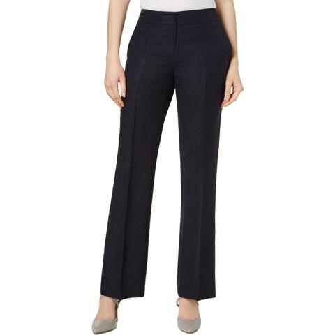 Nine West Womens Trouser Pants High Rise Flare Leg