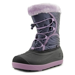 Kamik Fleet Youth Round Toe Canvas Snow Boot