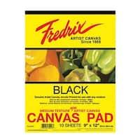 Fredrix Canvas Pad, 12 x 16 in, Black