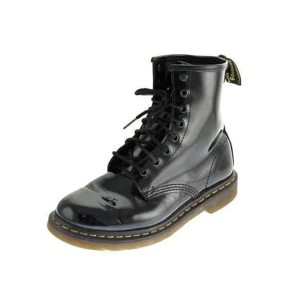 Dr. Martens Womens 1460W Combat Boots Contrast Trim Ankle - 11 medium (b,m)