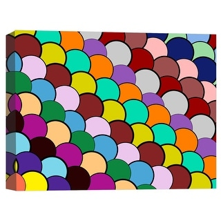 """PTM Images 9-124839  PTM Canvas Collection 8"""" x 10"""" - """"Watercolor Gumballs"""" Giclee Patterns and Designs Art Print on Canvas"""