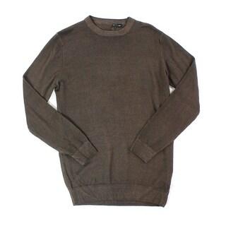 Bugatchi Uomo NEW Brown Mens Size Medium M Crewneck Wool Sweater