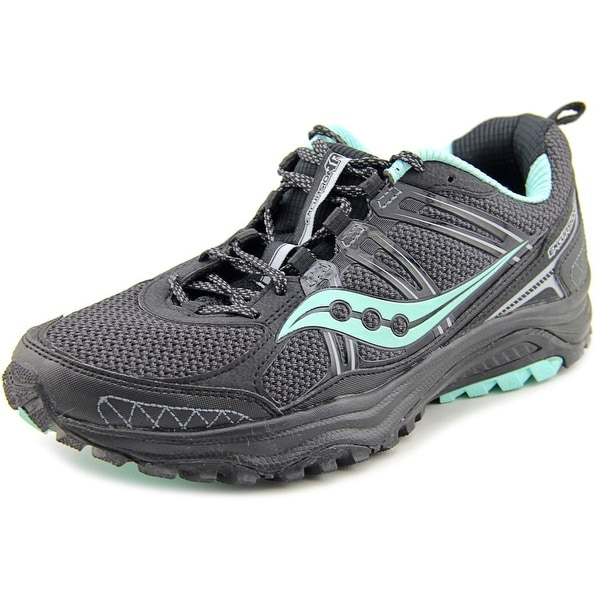 Saucony Grid Excursion TR10 Women W Round Toe Synthetic Black Running Shoe