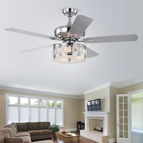 """52"""" Iris 5 Blade Chandelier Ceiling Fan with Remote Control and Light Kit Included"""