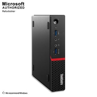 Lenovo M600 Tiny, Intel Celeron N3000 1.04GHz, 16GB DDR3, 360GB SSD, WIFI, BT 4.0, HDMI, W10P64 (EN/ES)-Refurbished