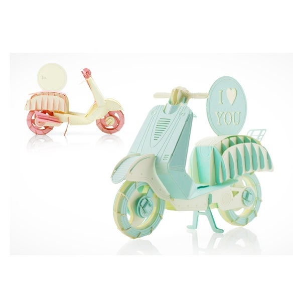 Shop Papero Pink and Mint Couple Scooters Assemblage Kit