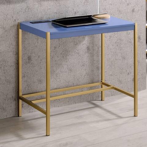 Furniture of America Belzie Contemporary Desk With USB Plug