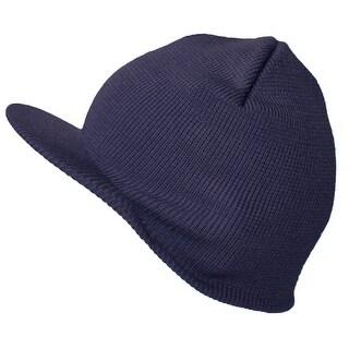 TopHeadwear Cuffless Beanie Cap with Visor