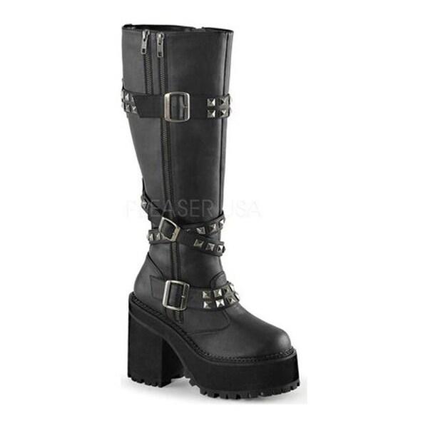 92b11c29cbd Shop Demonia Women s Assault 203 Boot Black Vegan Leather - Free Shipping  Today - Overstock.com - 11513989