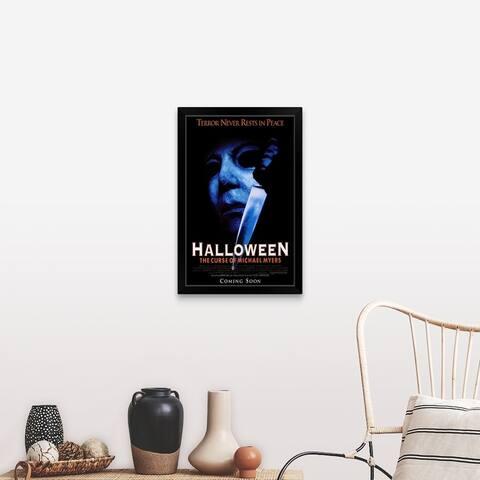 """Halloween 6 The Curse of Michael Myers (1995)"" Black Framed Print"